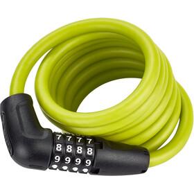 ABUS Numero 5510 Combi Zapięcie kablowe 180cm SCMU, lime green